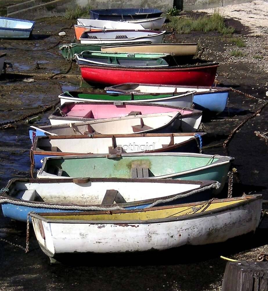 Dinghy boats by gothgirl