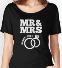 10th Wedding Anniversary Gift T-Shirt Mr & Mrs Since 2007 Women's Relaxed Fit T-Shirt