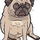 Pug by binarygod