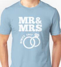 50th Wedding Anniversary Gift T-Shirt Mr & Mrs Since 1967 T-Shirt
