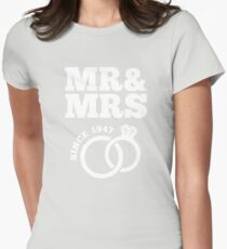 70th Wedding Anniversary Gift T-Shirt Mr & Mrs Since 1947 Womens Fitted T-Shirt
