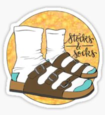 Stocks and Socks Sticker