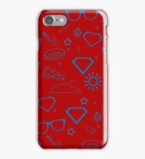 Supergirl/Kara's pattern - blue iPhone Case/Skin