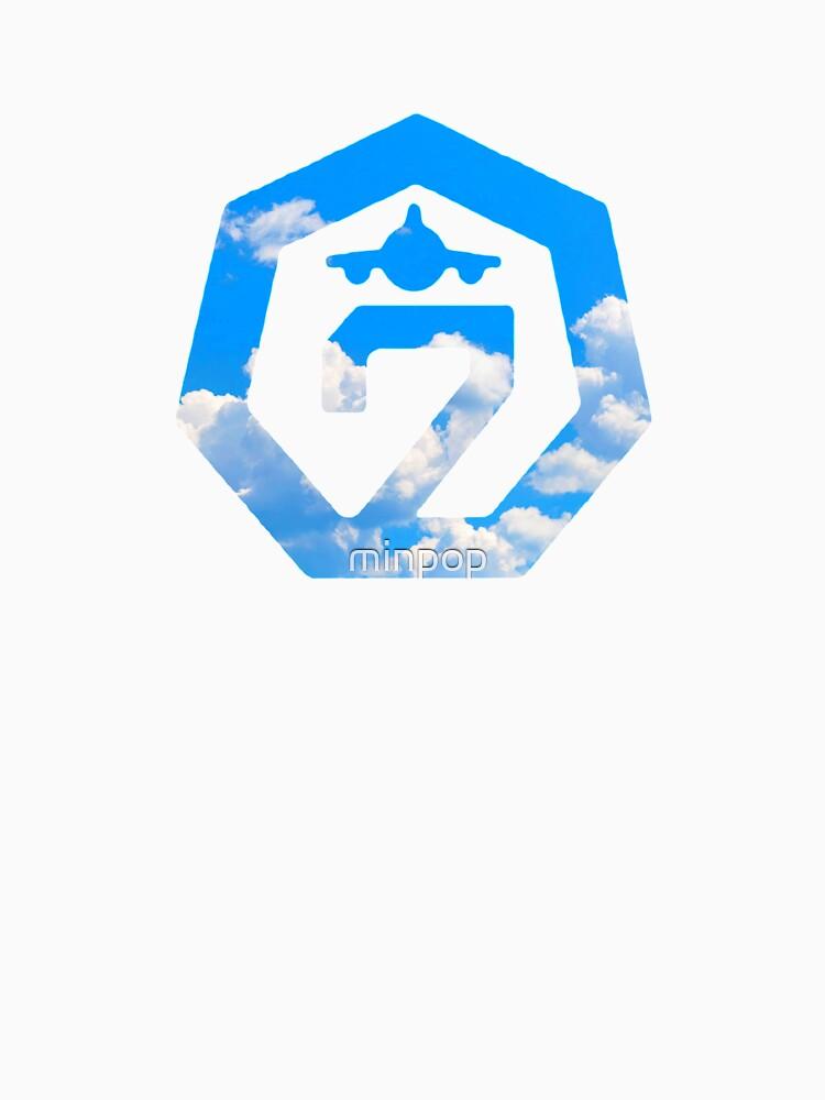 got7 flight log arrival logo clouds unisex t shirt by minpop