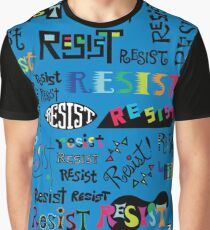 Resist Them blue Graphic T-Shirt
