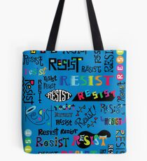 Resist Them blue Tote Bag