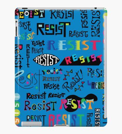 Resist Them blue iPad Case/Skin