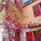 Pink Shutters With Bougainvillea............................Majorca by Fara