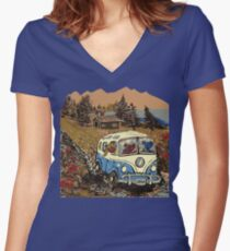 Grateful Dead -  Bear Vacation Women's Fitted V-Neck T-Shirt