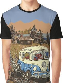 Grateful Dead -  Bear Vacation Graphic T-Shirt