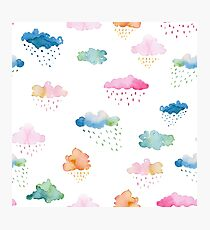 Watercolour Clouds (multicolour) Photographic Print
