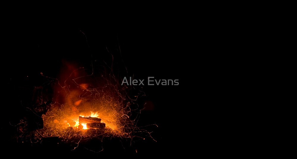 Big River Campfire by Alex Evans