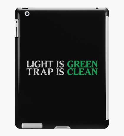 Ghostbusters - Light Is Green, Trap Is Clean - White Dirty iPad Case/Skin
