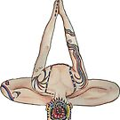 Yoga Headstand by Giselle Luske