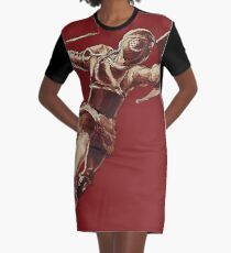 Warrior Graphic T-Shirt Dress