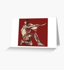Warrior Greeting Card