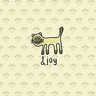 Cute Siamese Cat &joy Doodle Graphic Design by thejoyker1986