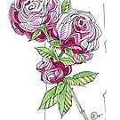"""""""Pink Roses"""" by Winterberry  Farm Studio"""