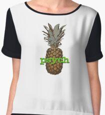 Psych Pineapple Chiffon Top