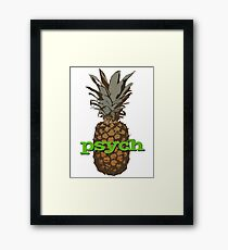 Psych Pineapple Framed Print