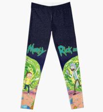 Ricky and Morty Green Portal Leggings