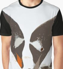 A gentoo penguin couple preparing their nest Graphic T-Shirt