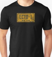 Ghostbusters - Ecto-1 License Plate -  Dirty T-Shirt