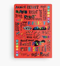 Resist Them scarlet red Metal Print
