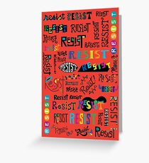 Resist Them scarlet red Greeting Card