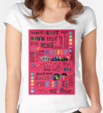 Resist Them cherry Women's Fitted Scoop T-Shirt