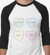Sassy Hearts Men's Baseball ¾ T-Shirt