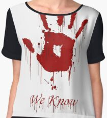 "AWESOME Dark Brotherhood ""We Know"" Women's Chiffon Top"