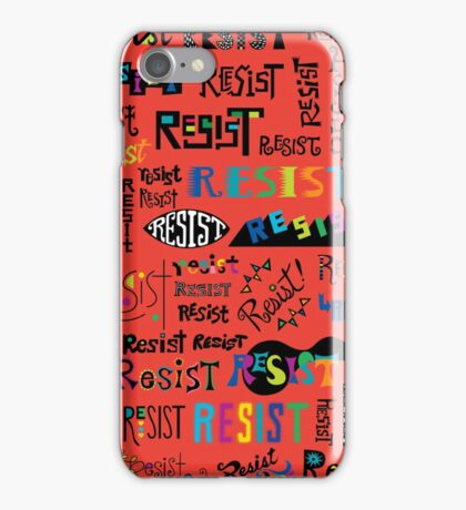 Resist Them scarlet red iPhone Case/Skin