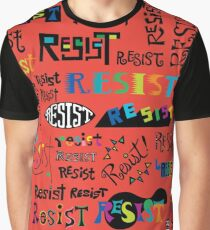 Resist Them scarlet red Graphic T-Shirt