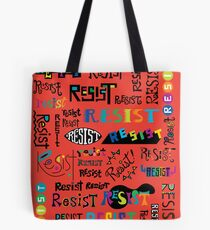 Resist Them scarlet red Tote Bag