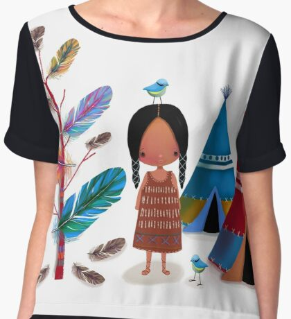 The Feather Tree Women's Chiffon Top