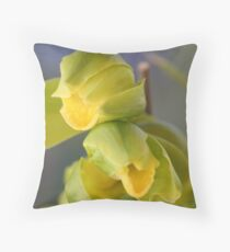 Cymbidium Throw Pillow