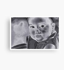 Baby With A Message Canvas Print