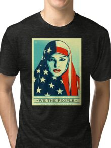 We The People - Peace in Arabic Tri-blend T-Shirt