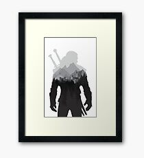 The Witcher 3 - Geralt of Rivia (No Logo) Framed Print