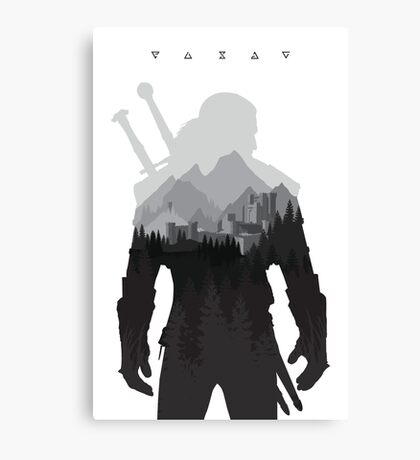 The Witcher 3 - Geralt of Rivia (Signs) Canvas Print