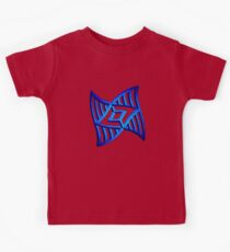 Warped Blue Isometric Shape Kids Tee