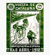 VUELTA DE CATALUNA; Vintage Bike Racing Print Photographic Print