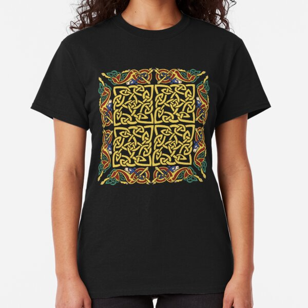 Gold Knotwork Squares and Hounds Border Classic T-Shirt
