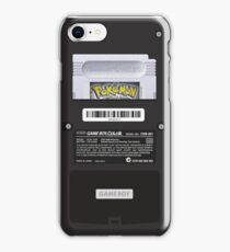Black Gameboy Color - Silver Cartridge iPhone Case/Skin
