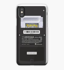 Black Gameboy Color - Silver Cartridge iPhone Case