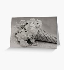 Blossom And The Bee Cornucopia  Greeting Card