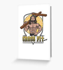 Jesus CrossFit Greeting Card