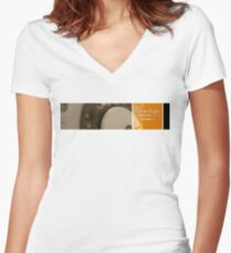 A.W.A. On Black Women's Fitted V-Neck T-Shirt