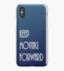 Keep Moving Forward Blue Gradient iPhone Case/Skin